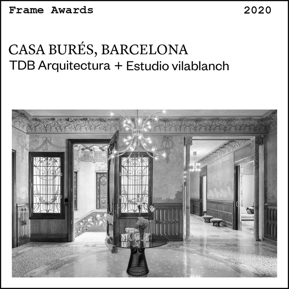 Frame Awards Casa Burés TdB Arquitectura