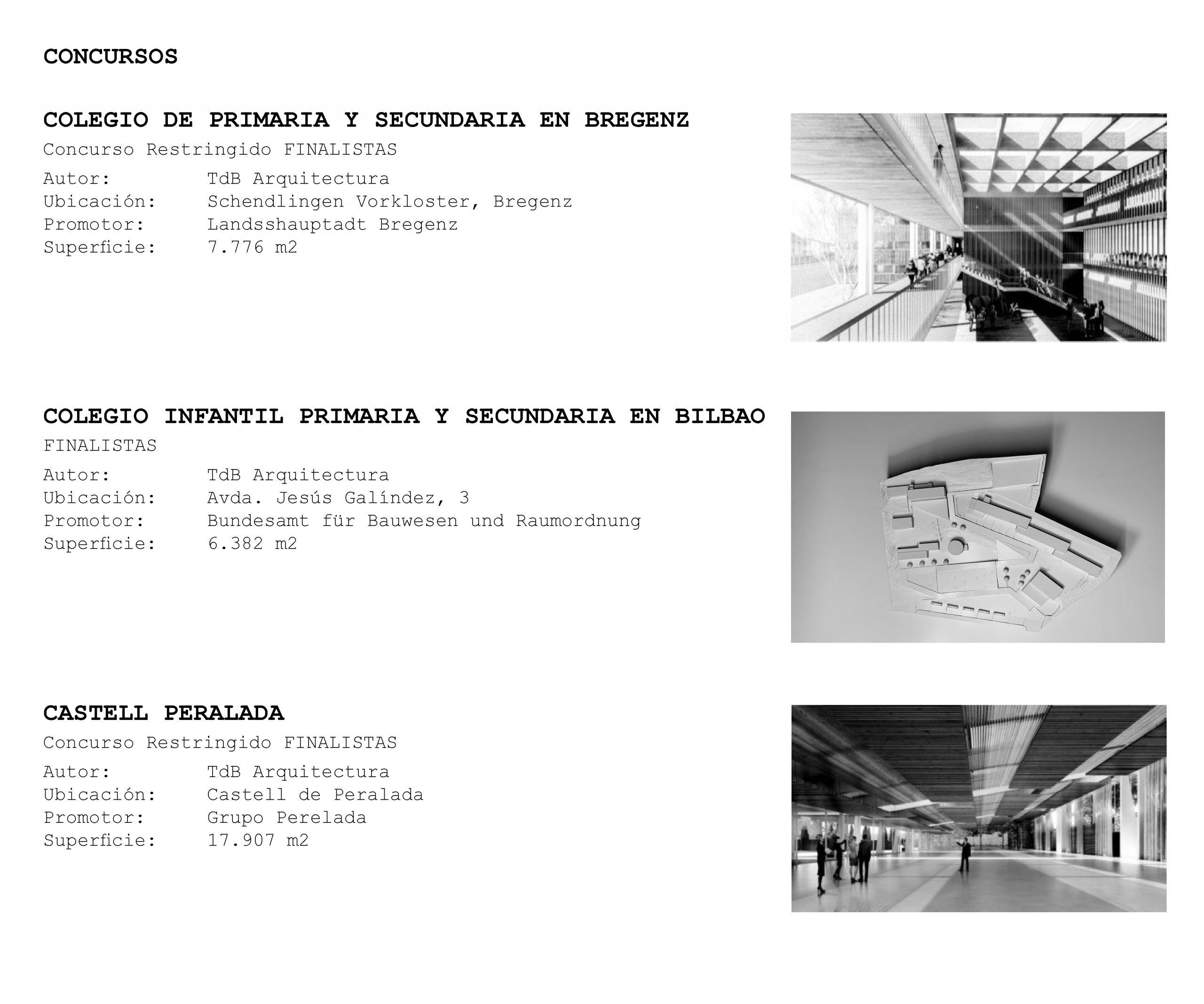 TdB Arquitectura Juan Trias de Bes proyectos projects