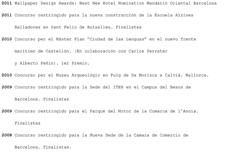 TdB Arquitectura awards premios